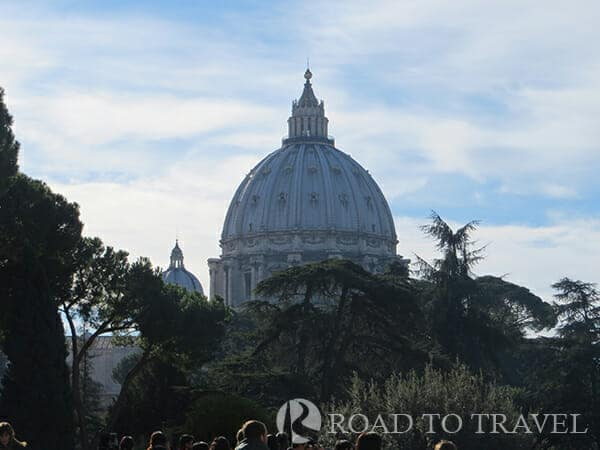St. Peter's Dome from Vatican grounds From the Vatican grounds you get a wonderful close up view of the iconic Dome of St. Peter's Basilica.