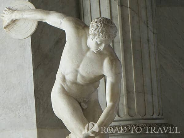 Vatican Museum Antiquities The Vatican Museum collection includes treasures of antiquity such as this of the Greek discus thrower from the first century BC.