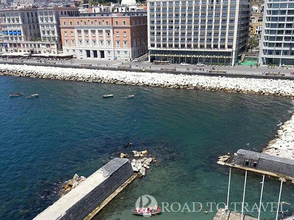 Naples promenade View of Naples promenade from Castell dell'Ovo.