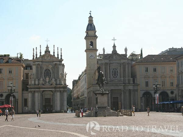 Piazza San Carlo A view of the twin churches of S. Cristina and S. Charles. Piazza San Carlo is considered to be the most important square <br/>of the city because of the structures of the buildings that surround it. It is definitely the most beautiful and elegant<br/> square in Turin and is often the location of cultural and political events in the city.