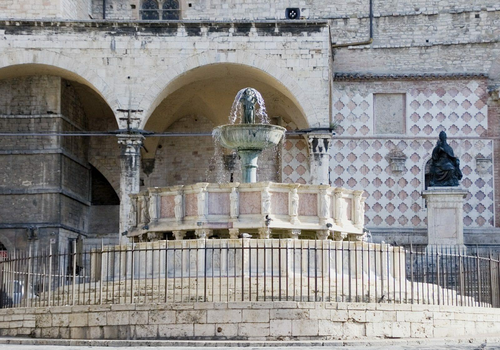 The Major fountain (Fontana Maggiore) in Perugia, Italy