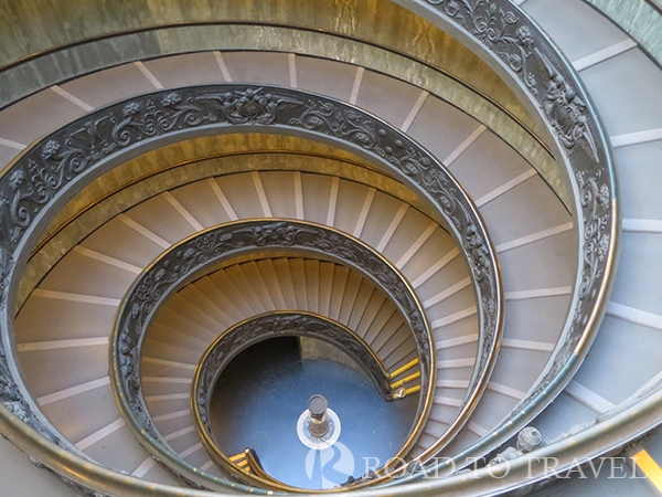 Spiral Staircase The Vatican Museums spiral staircase designed in 1932 by Giuseppe Momo is truly stunning. It has two spirals; one going up and one going down.