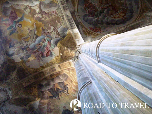 Santa Maria Assunta inside Frescos inside Santa Maria Assunta church .