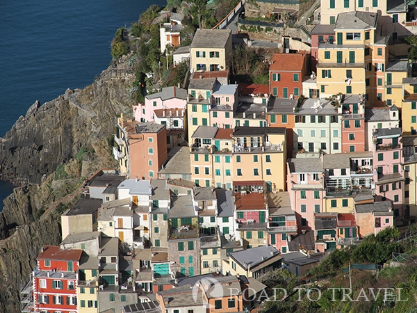 Colorfull houses in Riomaggiore View of the corefull houses of Riomaggiore