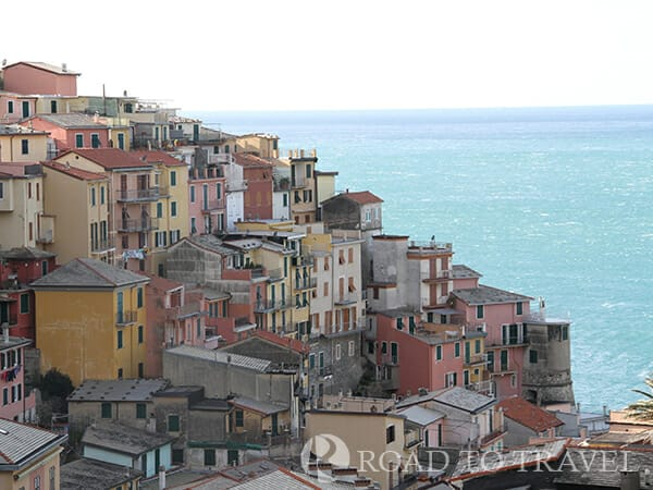 Colorfull houses in Manarola View of the typical colorfull houses of Manarola.