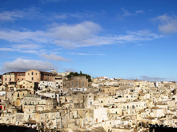 Panorama of the Sassi of Matera Panorama of the Sassi of Matera as seen from the Cattedrale di Matera.