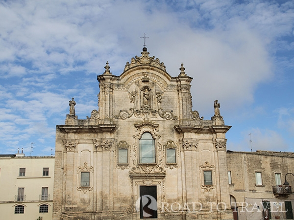 Chiesa San Francesco di Assisi View of the facade of the Church of St Francis of Assis in Matera.