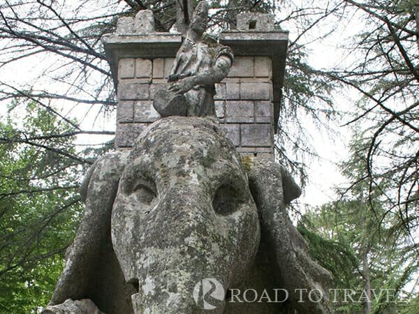 Hannibal's Elephant - Bomarzo Gardens The Hannibal's Elephant is one of the main sculpure inside the Bomarzo Giardini.