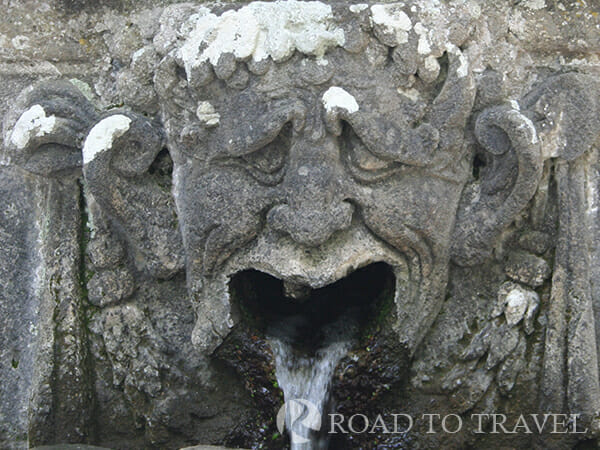Villa Lante Fountain The gardens are a perferct creation of fountains, grottoes, statues and villa houses.