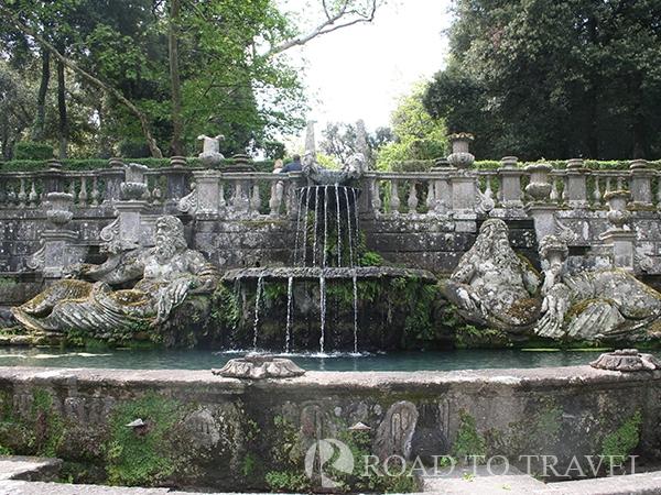 Garden if Villa Lante Harmonious choreography of water.
