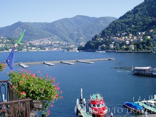 Como Pier Lake view from a room of the Hotel Metropole & Suisse.